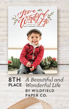 A Beautiful and Wonderful Life Holiday Card