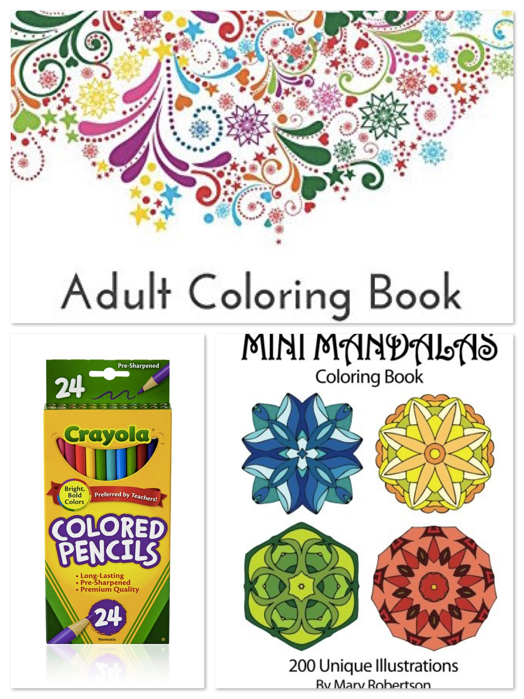 Adult Coloring Book Party Supplies