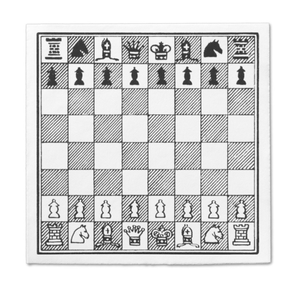 Chess paper napkins