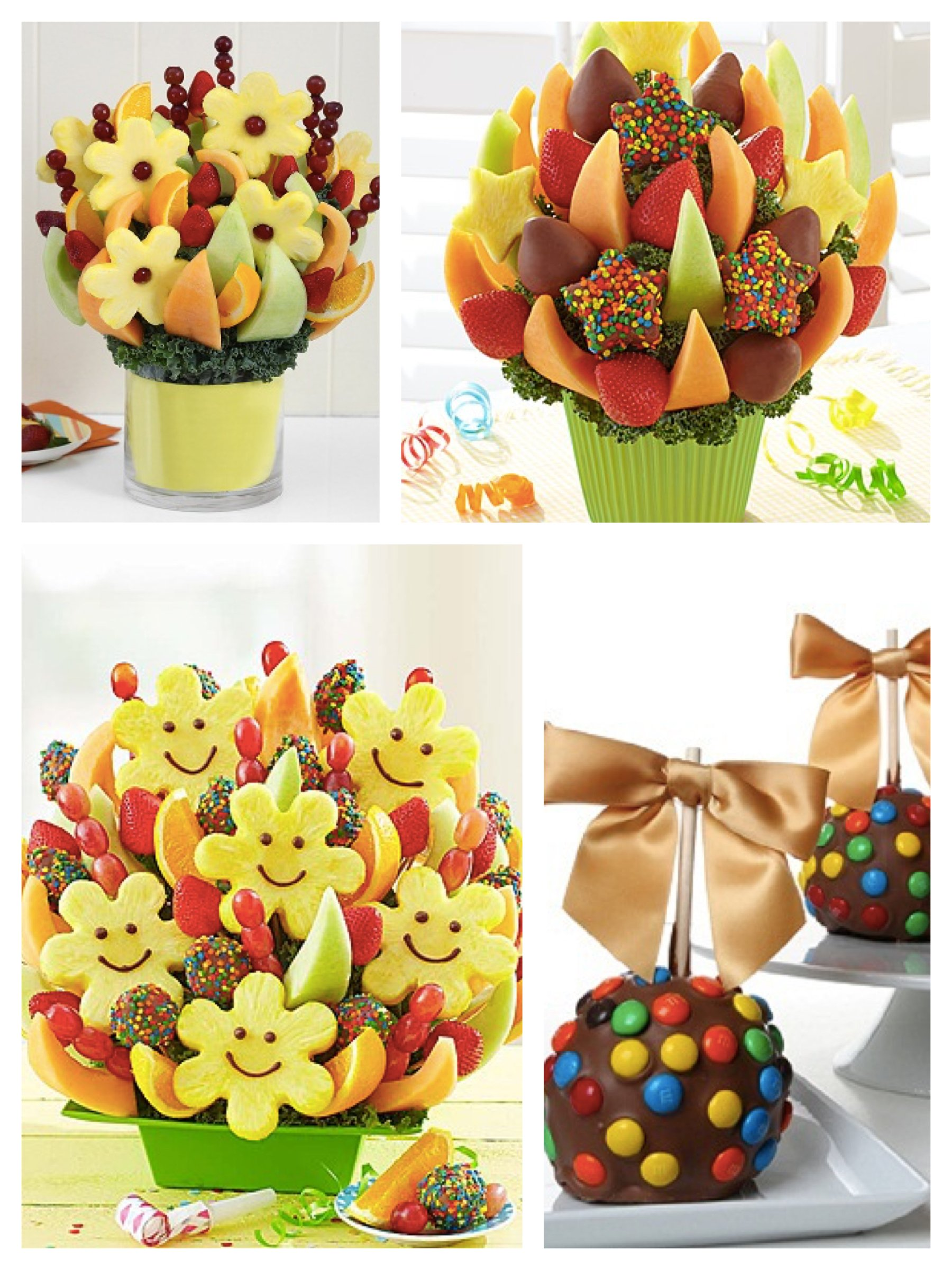 Colorful Edible Fruit Bouquets and Candied_Apples