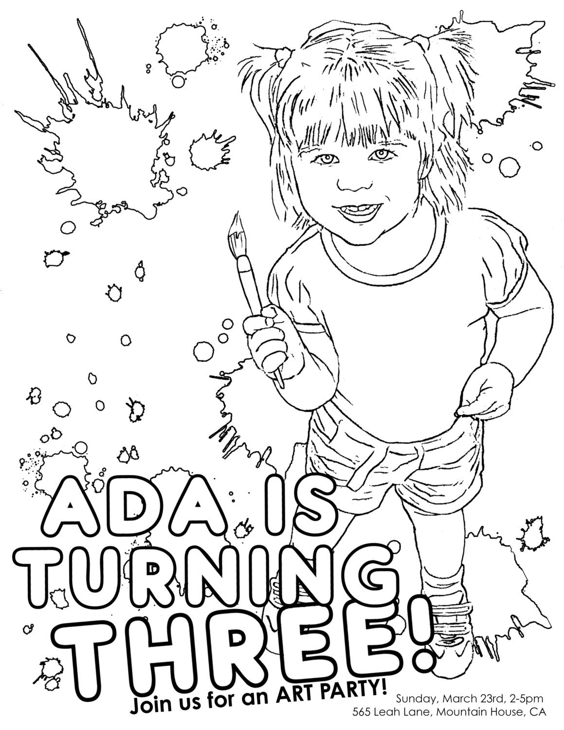 personalized birthday coloring pages | Adult Coloring Party Planning, Ideas & Supplies | Party ...