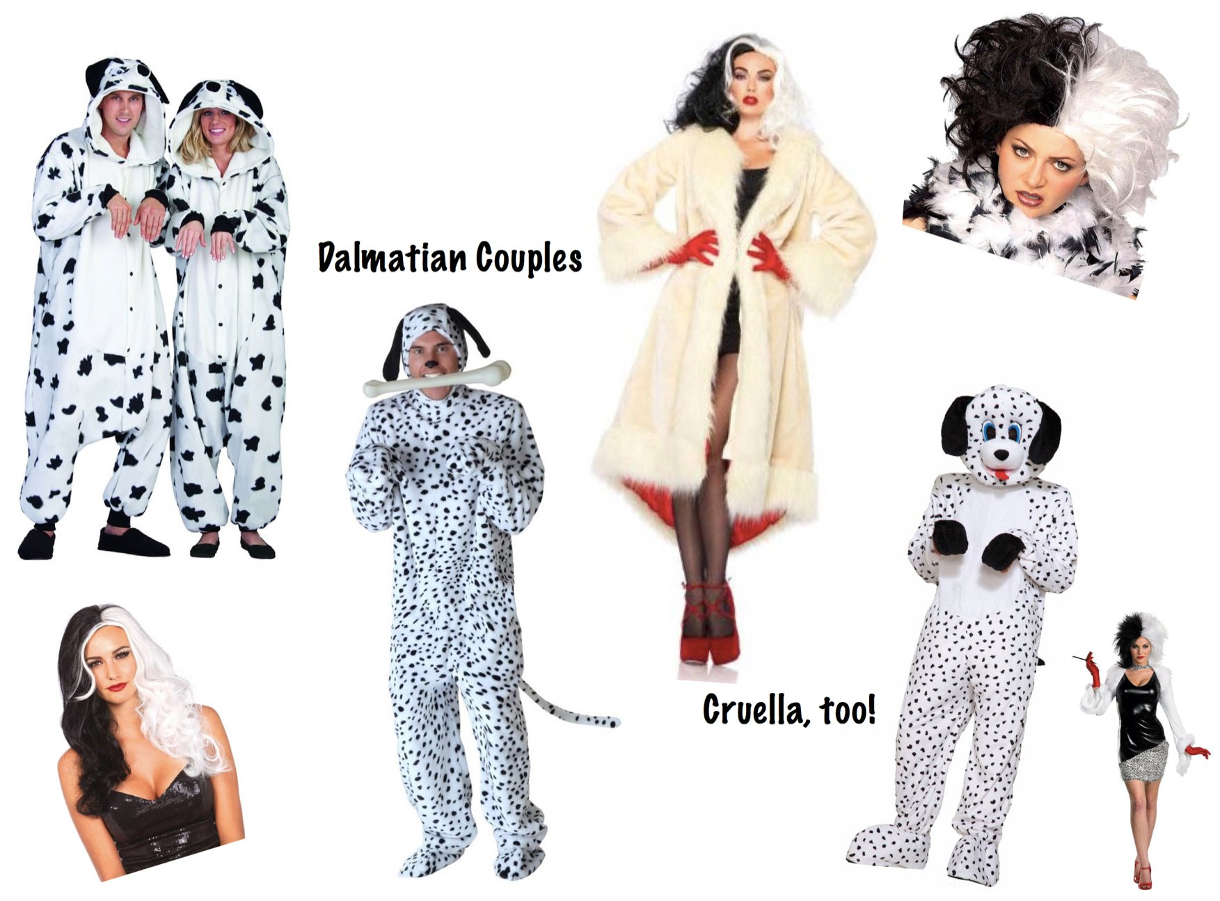 Dalmatian & Cruella Couples Costumes