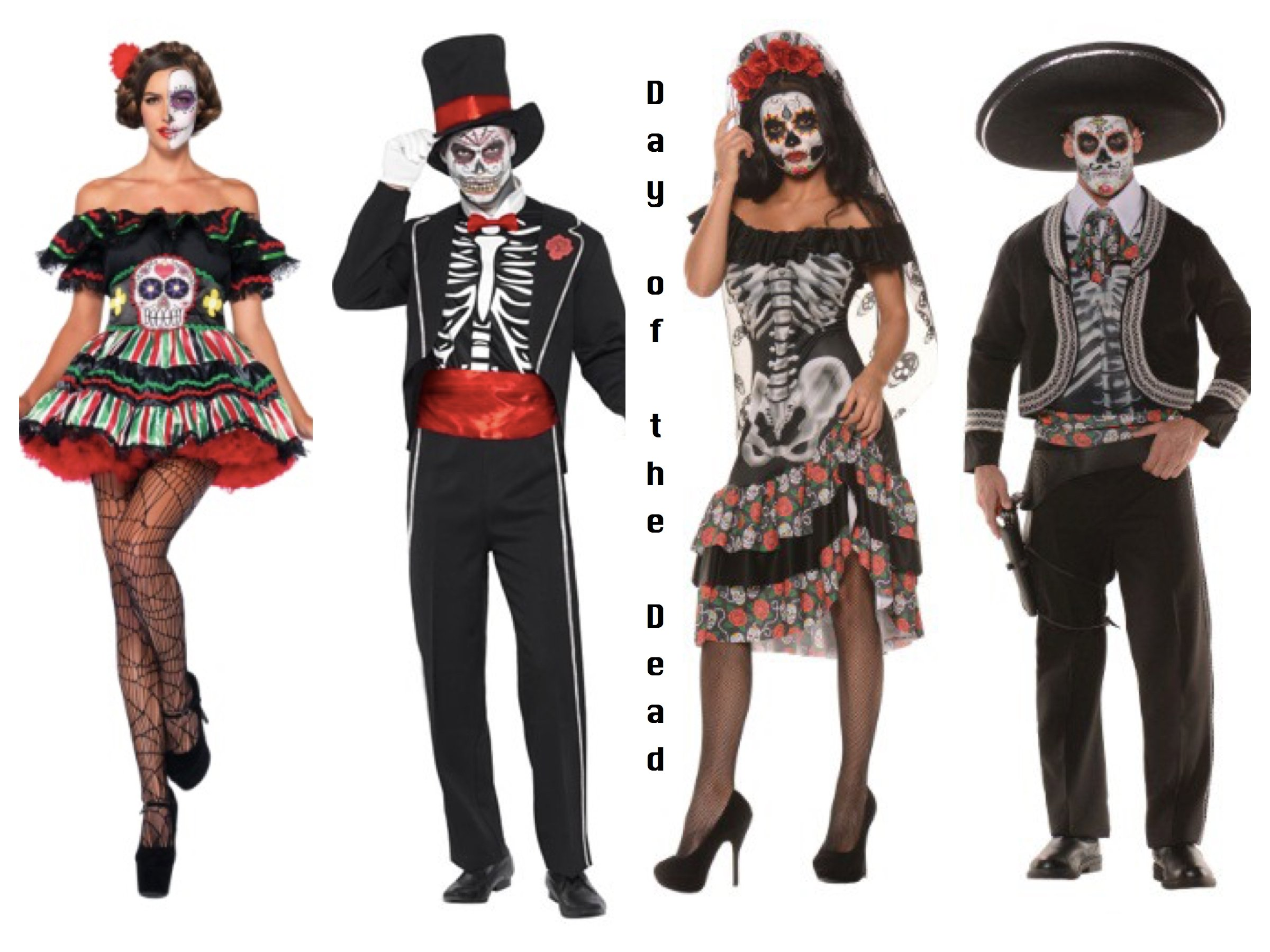 Day of the Dead Couples Costumes  sc 1 st  Party Idea Pros & Make it a Double!