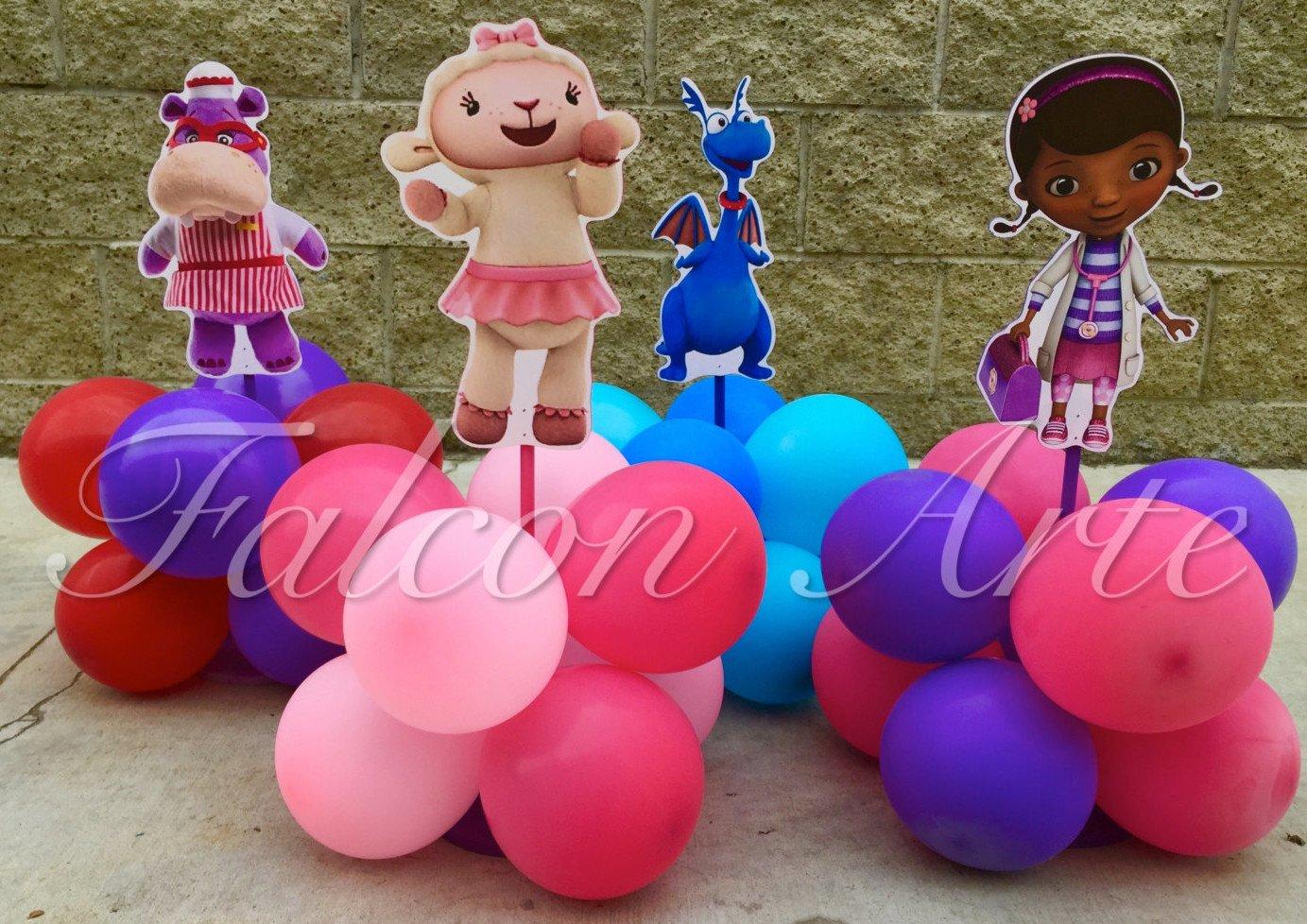 Doc McStuffins Balloon Centerpieces