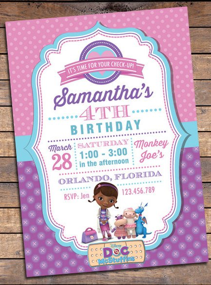 Doc Mcstuffins Birthday Invitations Wblqual Com