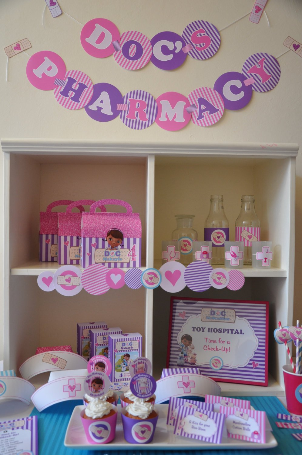 Doc McStuffins Personalized Printable Party Supplies