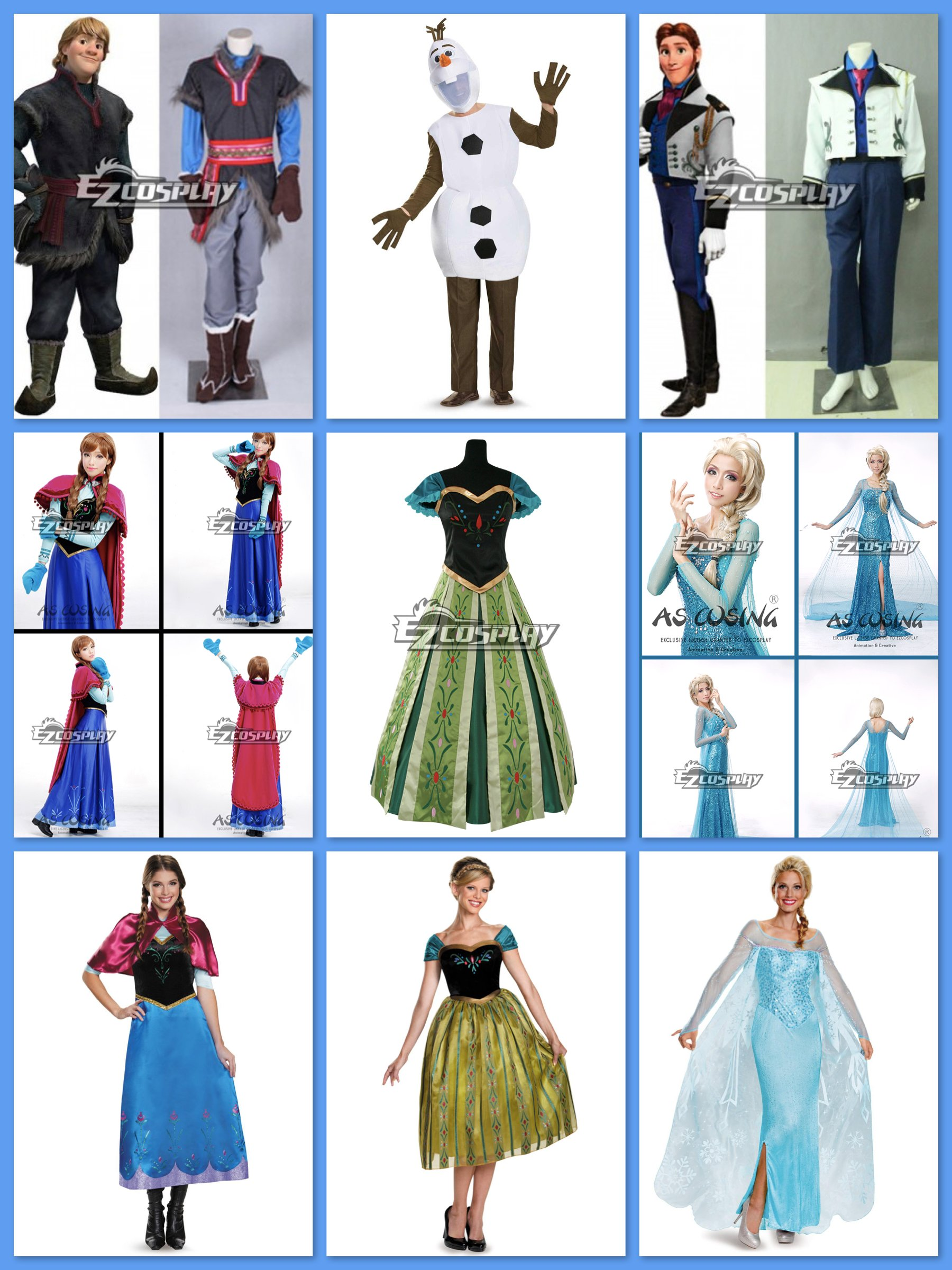 Frozen Couples Costumes