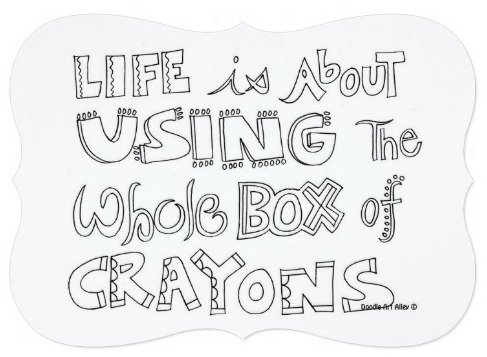 Life Is ABout Using the Whole Box of Crayons Party Invitation