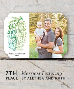 Merriest Lettering Holiday Card