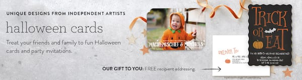 Minted Halloween Cards
