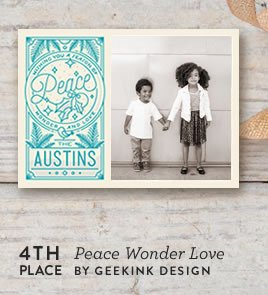 Peace Wonder Love Holiday Card