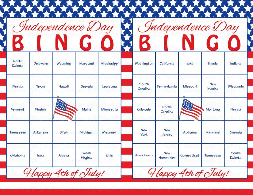 Printable 4th of July Bingo