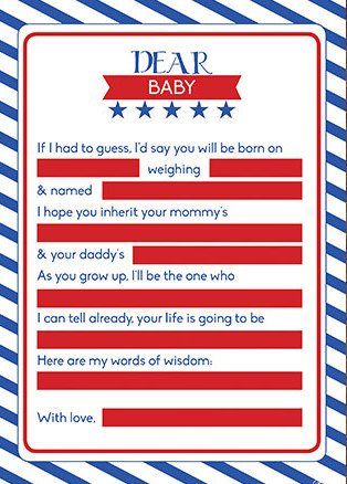 Printable Patriotic Baby Shower Game