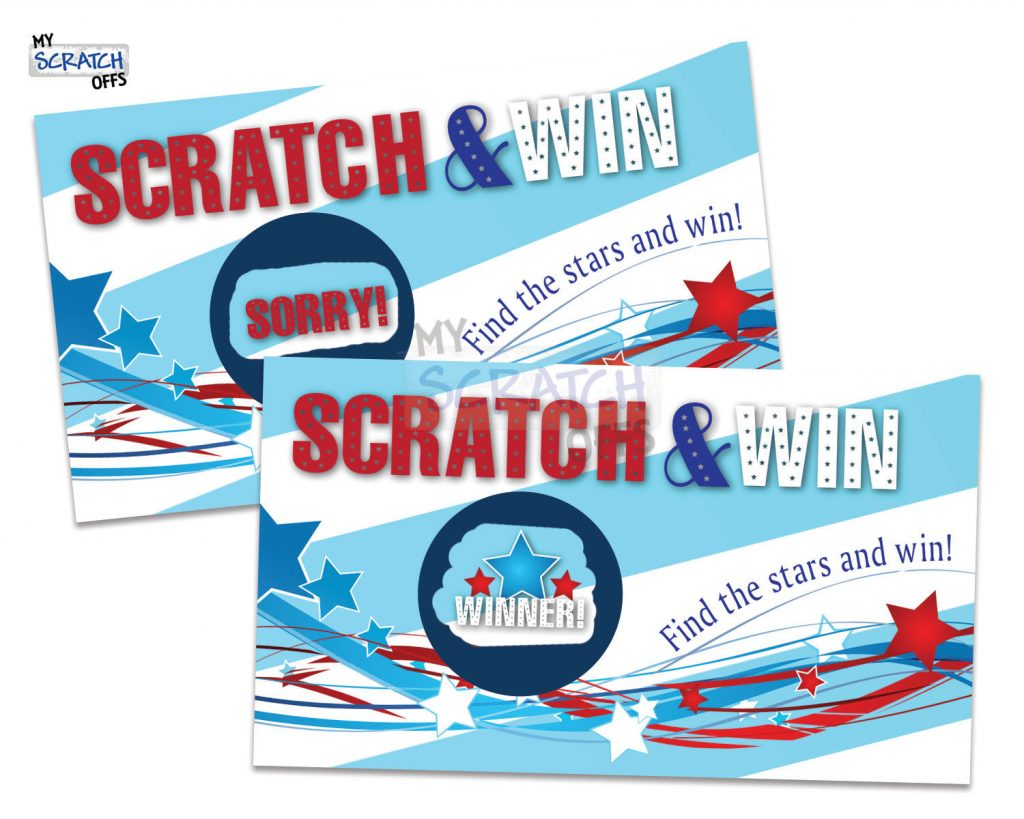 Printable Patriotic Scratch and Win