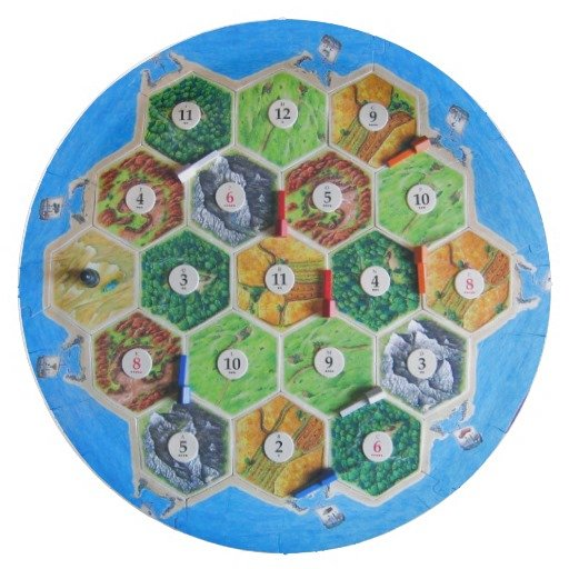 Settlers of Catan paper plate