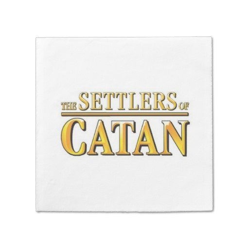 Settlers of Catan paper napkins