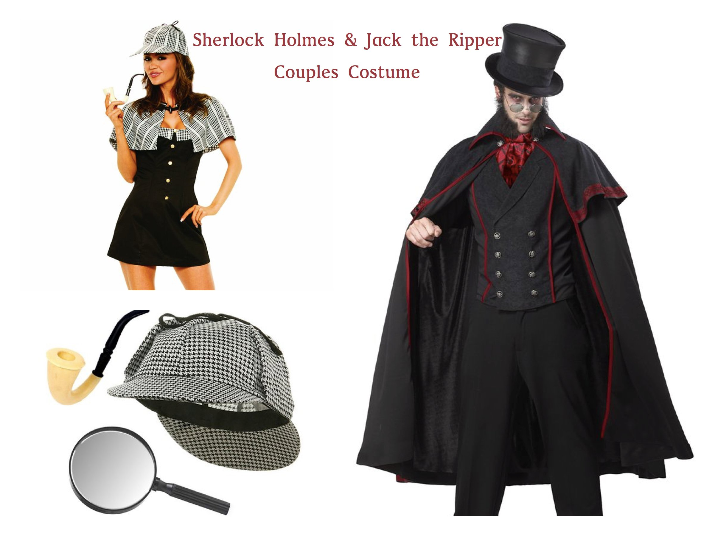 Sherlock Holmes & Jack the Ripper Couples Costume