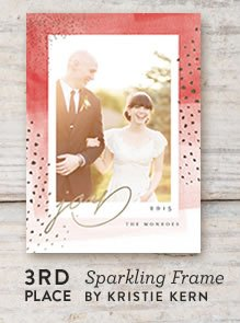 Sparkling Frame Holiday Card