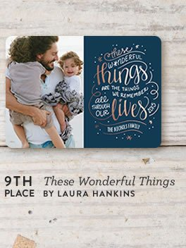 These Wonderful Things Holiday Card