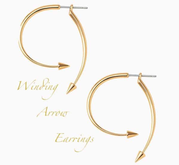 Winding Arrow Earrings