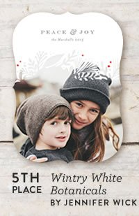 Wintry White Botanicals Holiday Card