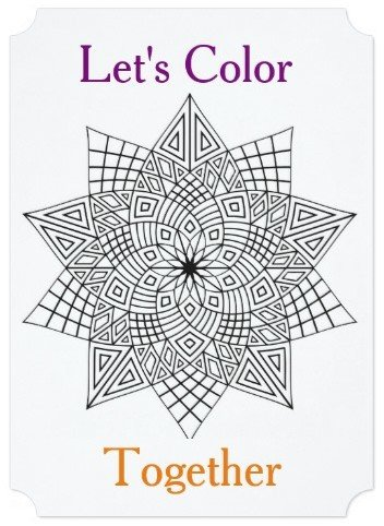 Let's Color Together Coloring Party Invitation