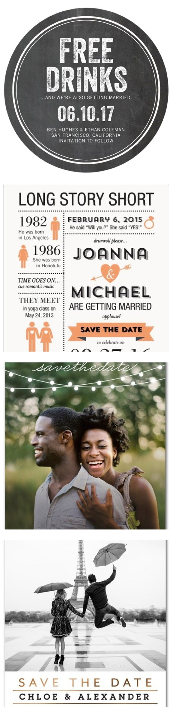 Share The Big Engagement News with Save the Dates