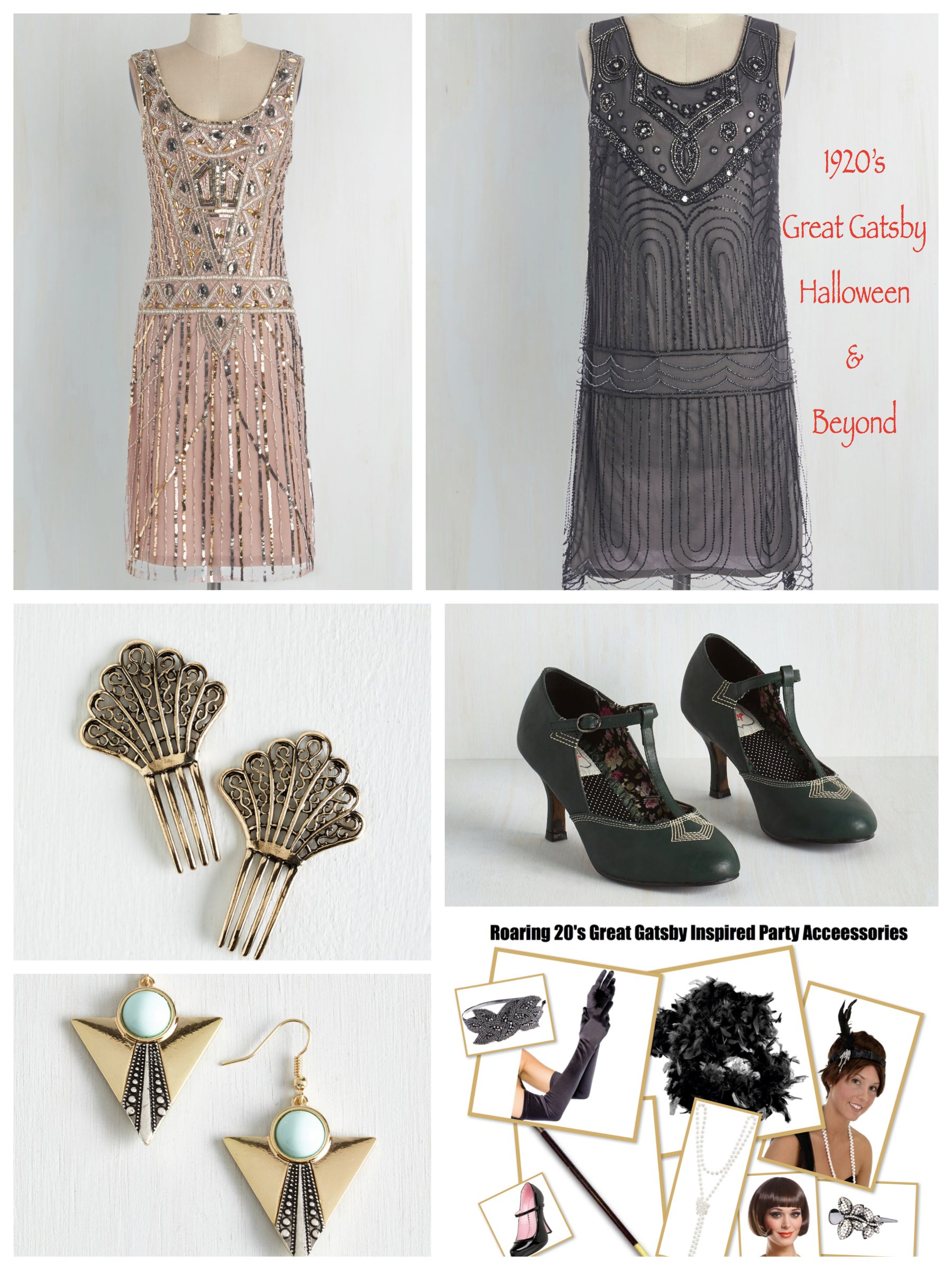 Roaring 20's Great Gatsby Inspired Dresses & Party Accessories,Halloween Costume Trend