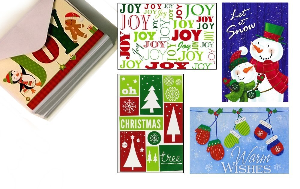 32 Assorted Christmas Cards with Envelopes
