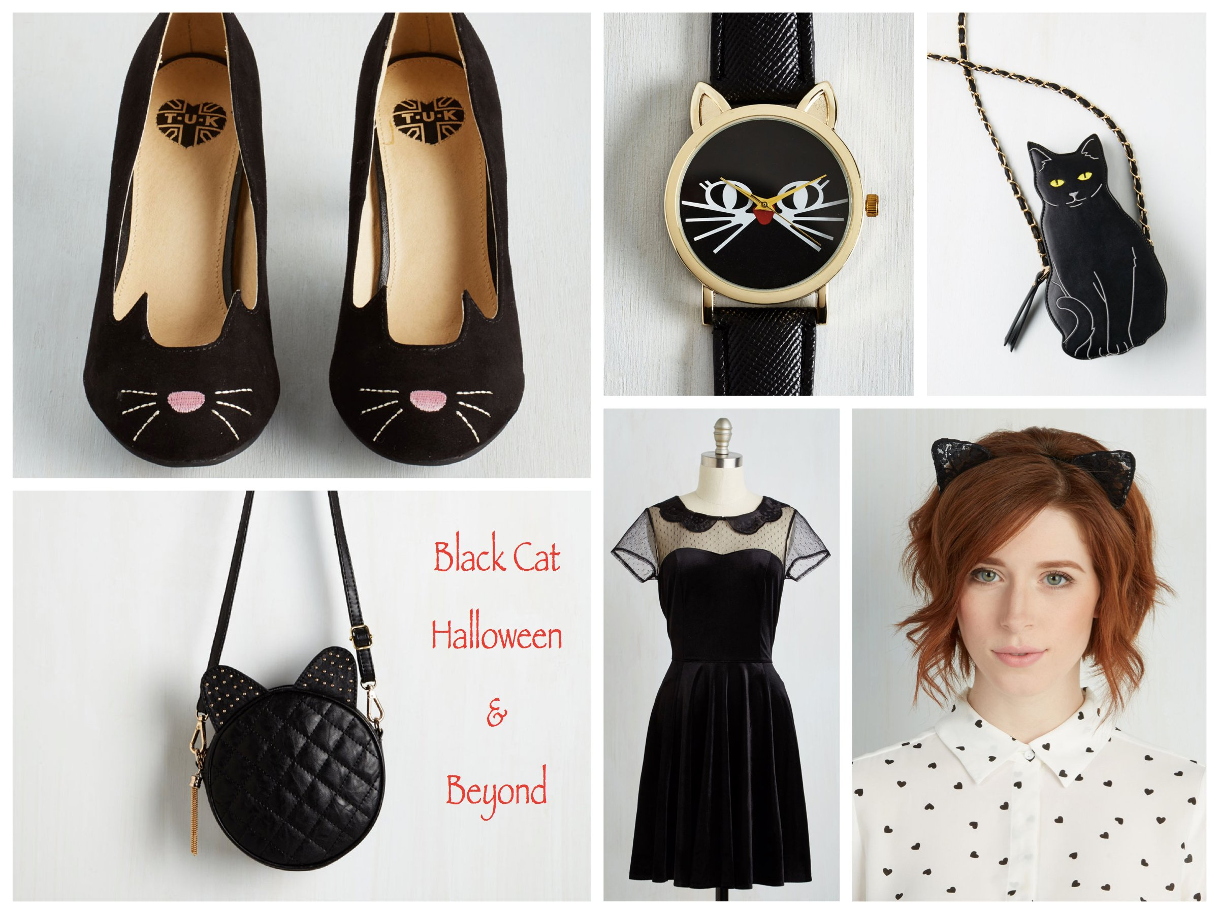 Little Black Dress + Black Cat Accessories for Halloween & Beyond, Halloween Costume Trend