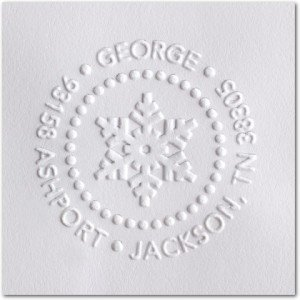 Geometric Snowflake Embosser, Holiday Card Envelopes