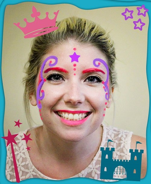 DIY Halloween Glow Face Paint Free eGuide Princess