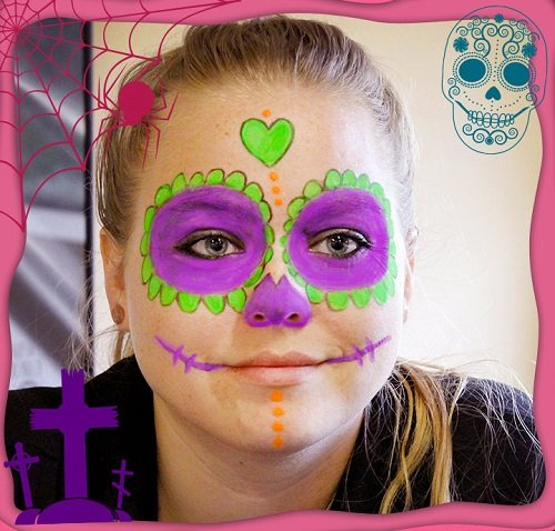 DIY Halloween Glow Face Paint Free eGuide Day of the Dead Sugar Skull