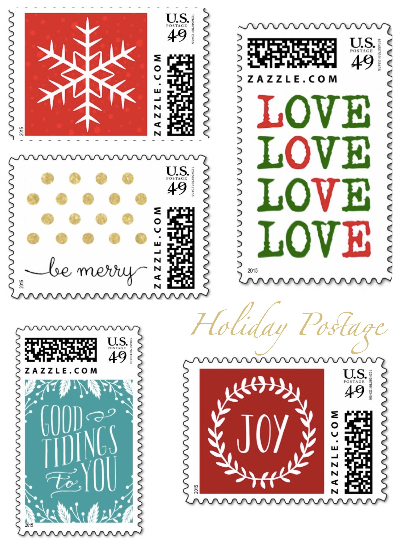 Holiday Postage for your Holiday Card Envelopes