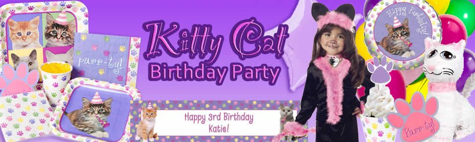 Kitty Cat Birthday Party Supplies