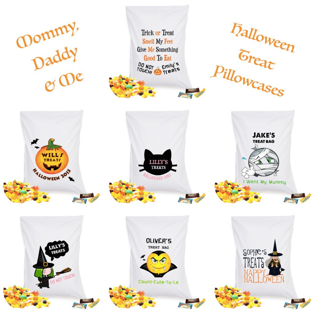 Re-Usable Halloween Treat Pillowcases, Re-Usable Halloween Trick or Treat Bags
