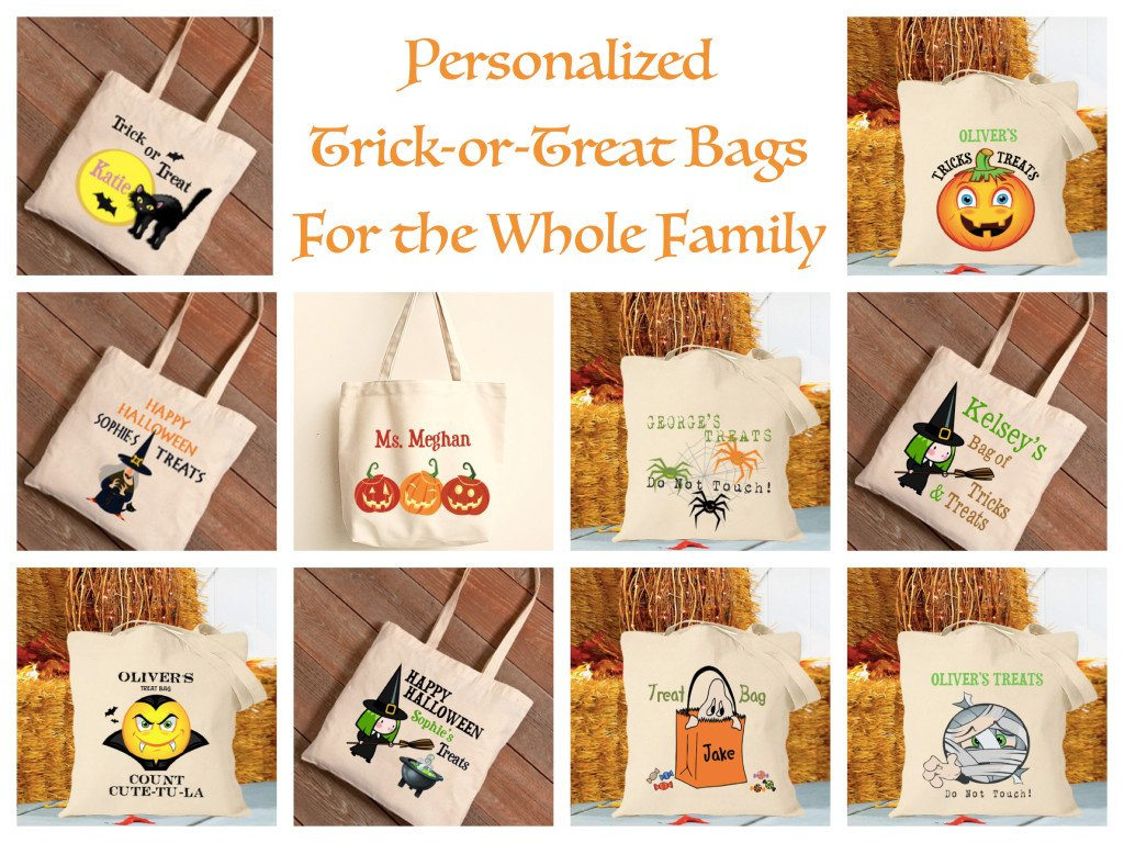 Personalized Treat Bags For the Whole Family, Re-Usable Halloween Trick or Treat Bags