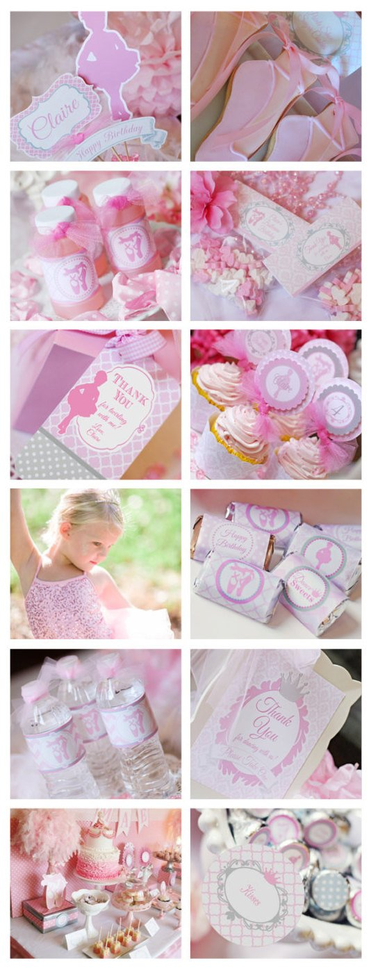 Printable Ballerina Birthday Party Decorations