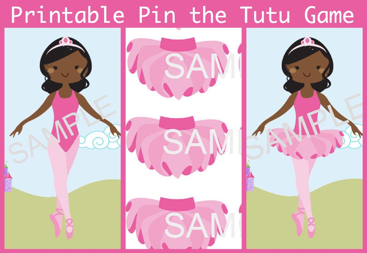 Printable Pin the Tutu Game