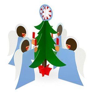 Sandra Foose Angels with Tree Pop Up Holiday Cards