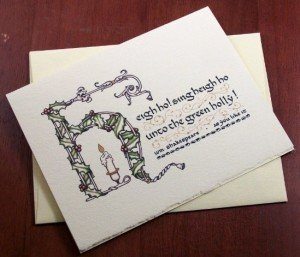 Shakespeare Quote Christmas Card
