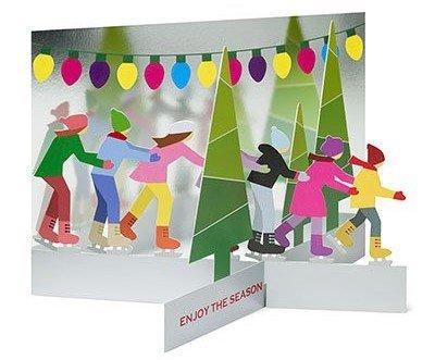 Skating Party Holiday Cards by Keisuke Unosawa