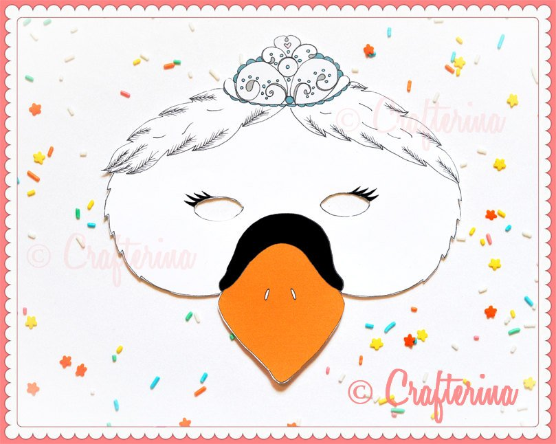 Swan Lake Printable Mask Craft Kit Set