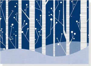 White Birches Holiday Boxed Cards