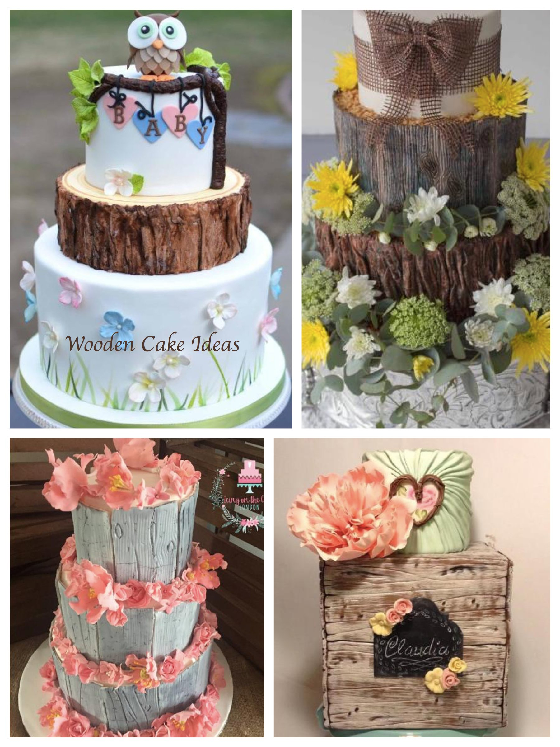 Nature-Inspired and Wooden Cake Ideas