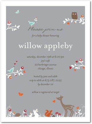 gender neutral woodland animals baby shower party supplies, Baby shower invitations