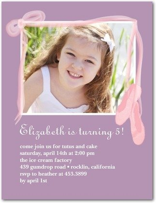ballet birthday photo birthday party invitations