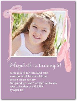 ballet birthday photo birthday party invitations