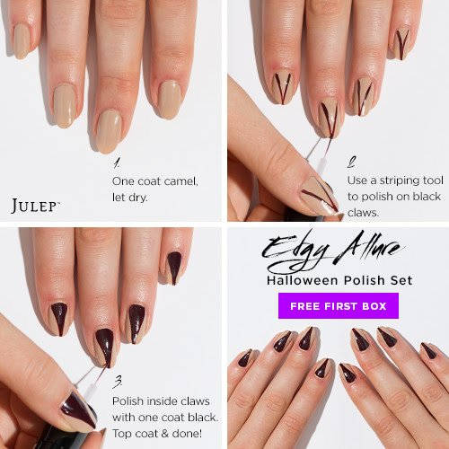 Edgy Allure Halloween Nail Art Polish Set