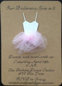 Ballerina Birthday Party Invite
